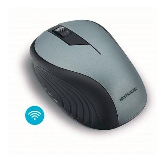 Mouse Multilaser Sem Fio 2.4ghz Preto Grafite Usb