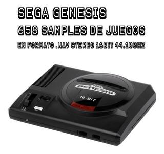 Sega Genesis Soundset - 658 Samples .wav Ideal Para Chiptune