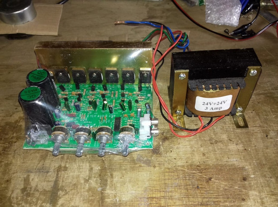 Placa Kit Amplificador 2.1 Potencia 240 Watts C Transfomador