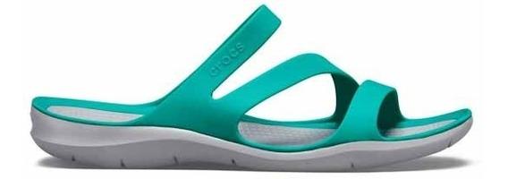 Sandalia Crocs Dama Swiftwater Sandal W Verde Aqua
