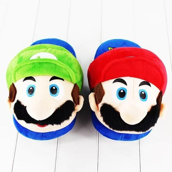 Pantuflas Súper Mario Bros Unitalla Unisex Mario Y Luigüi