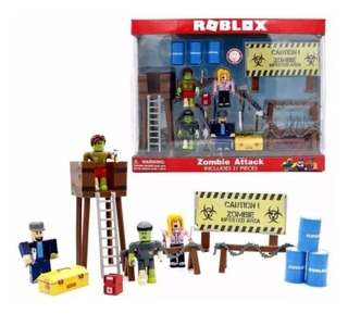 Set 4 Muñecos Roblox Zombie + Torre + Accesorios - Oferta!!!