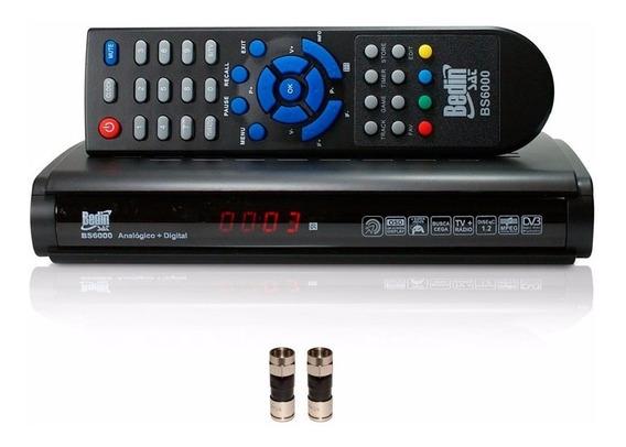 Receptor Tv Analógico Digital P/ Antena Parabolica Satelite