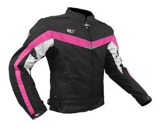 Chamarra Para Moto R7 409 Deportiva Rosa De Mujer