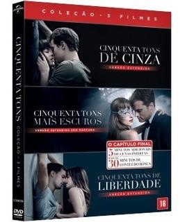 Dvd Cinquenta Tons De Cinza + Mais Escuros + Liberdade Orig