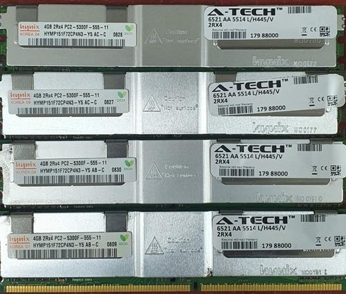 Memória 16gb 2rx4 Pc2-5300f Ddr2 Eco Servidor Hp Dell Hynix