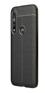 Funda Moto G8 Plus / Play Carbon Tpu Leather + Vidrio+ Envio