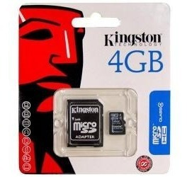 Cartão De Memória Micro Sd 4gb Com Adaptador Sd