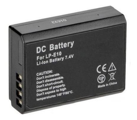 Imagem 1 de 1 de Bateria Para Maquina Digital Canon Rebel T3 T4 1200d Lpe10