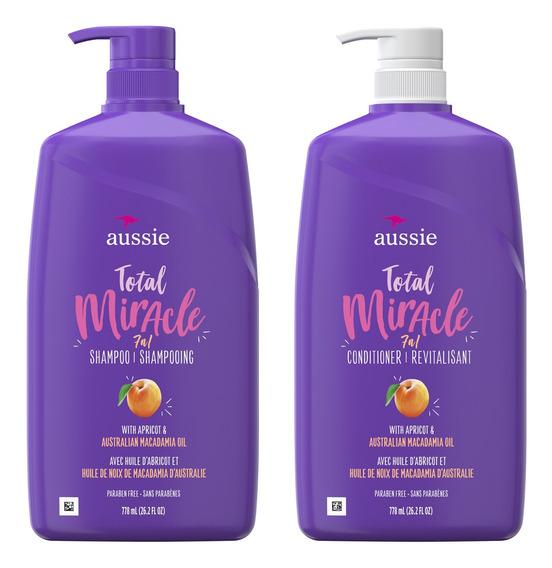 Shampoo + Condicionador Aussie 7n1 Total Miracle 778 Ml- Kit