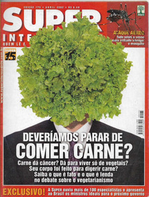 Revista Super Interessante N° 175 - Vegetarianismo E Carne
