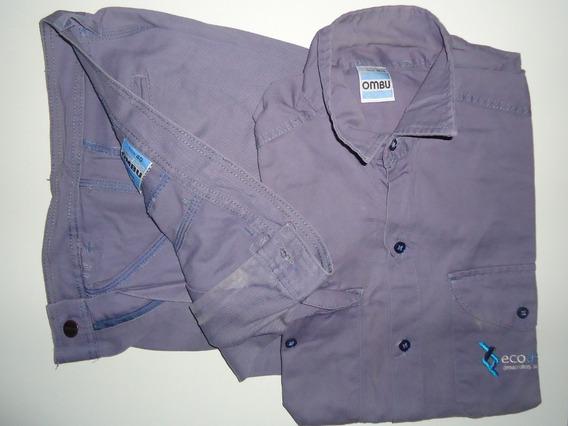 Promoción!!! Equipo Camisa + Pantalon De Trabajo Grafa Ombu Original