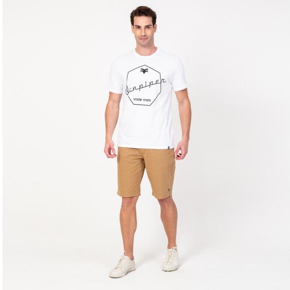 Camisa Casual Masculina T-shirt Branca Cadillac Vonpiper