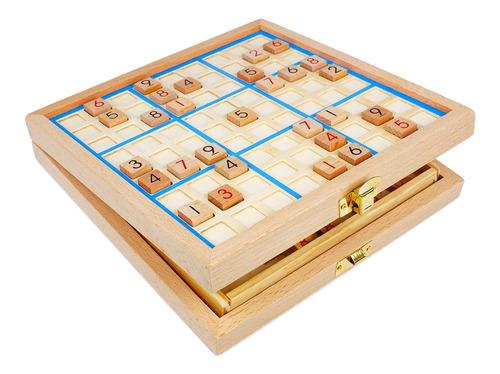 Andux Land Sudoku Board Box 3 En 1 Número De Madera Lugar...