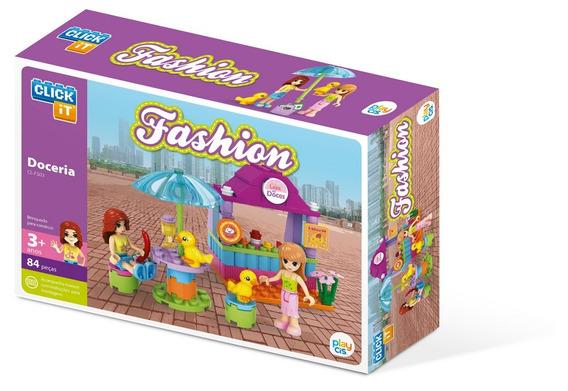 Brinquedo Blocos De Montar Com 84peças Fashion Doceira