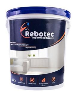 Rebotec 2 / 2kg Impermeablizante 12x S.juros Distribuição Sp