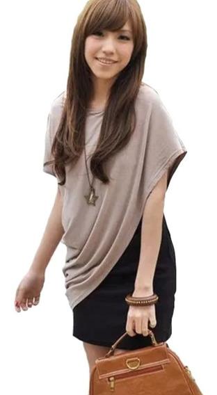 Vestido Chalina Rebozo Set 2 En 1 Blusa Falda Japonesa 5106