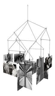 Portaretratos Móvil Colgante De 10 Pinzas Fotos Geométrico