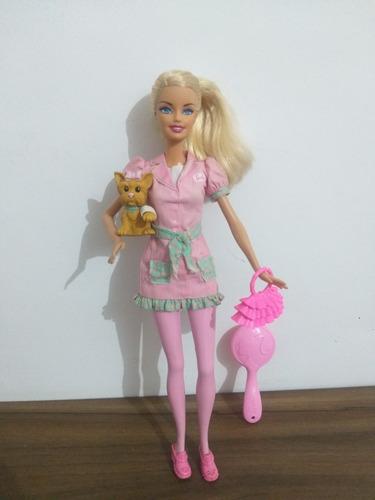 Barbie Veterinária Usada Em Bom Estado