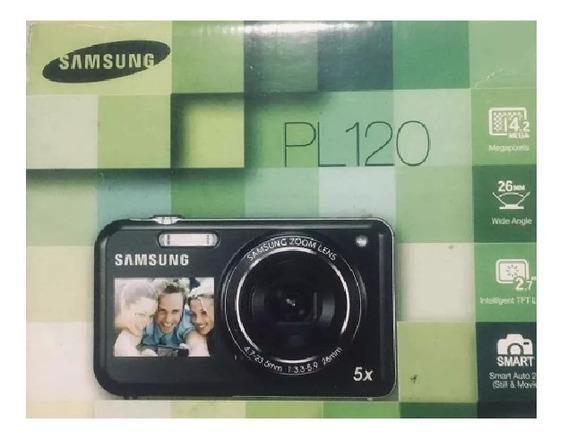 Câmera Samsung Duplo Visor Lcd C/ Cabos E Manual