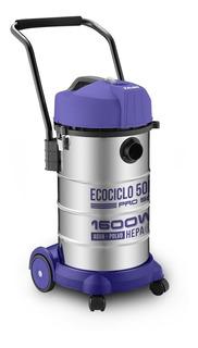 Aspiradora Yelmo Sopladora Agua Polvo As-3350 50lts Acero