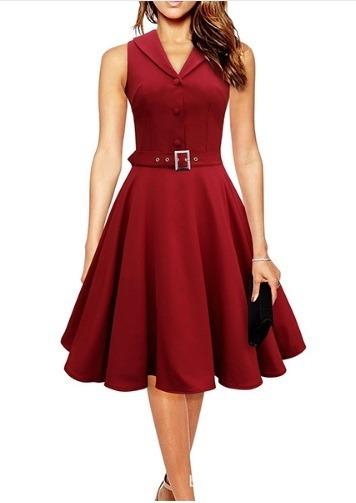 Vestido Rojo, Años 50 Vintage Envio Gratis Va 157