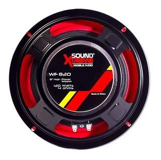 Parlante 8 Woofer 120w Soundxtreme 4 Ohm Wf820 Ala De Goma