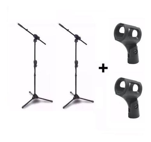 Imagem 1 de 5 de Kit 2 Pedestal Suporte Microfone Smmax Ibox + 2 Cachimbos