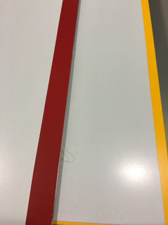 Aluminio Compuesto Hoja Dibond Rojo/amarillo
