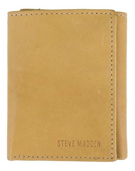 Steve Madden - Cartera De 100 % Piel Genuina Original Rfid