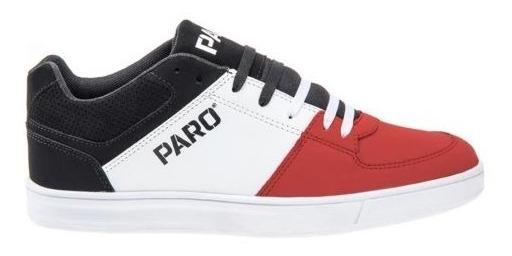 Tenis Casual Skate Paro Rojo-blanco 830160 Urbano 2-18 A