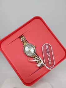 Relógio Feminino Mondaine Original Dourado Luxo Frete Gratis
