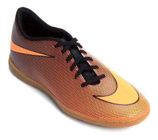 Chuteira Tênis Futsal Nike Bravata 2 Ic Laranja 8449 Tam: 41
