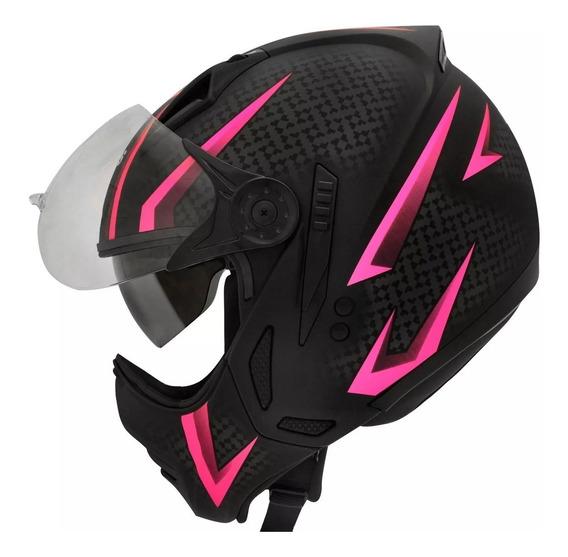 Capacete Moto Peels Mirage Storm C Oculos Rosa N Ebf Tork