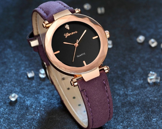 Geneva Relógios De Luxo Moda Feminina Analógico Lindo