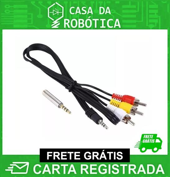 Cabo Av Rca Áudio / Vídeo 90cm Para Raspberry Pi Frete Gráti