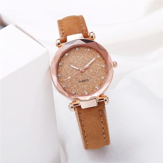 Relógio Feminino Vidro De Safira
