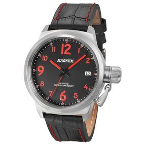 Relógio Masculino Pulseira De Couro Magnum Military Ma33442
