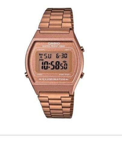 Relógio Casio Vintage Feminino Rosê Digital B640wc-5adf