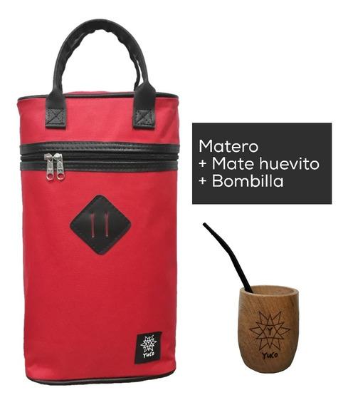 Combo Bolso Matero Yuco + Mate Algarrobo + Bombilla