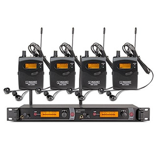 Top Quality!! Rocket Audio Rw2080 In Ear Monitor System 2 Ch