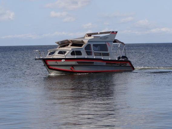 Lancha Alumínio Cabinada Malloy Mod. Fishing 270 - Água Doce
