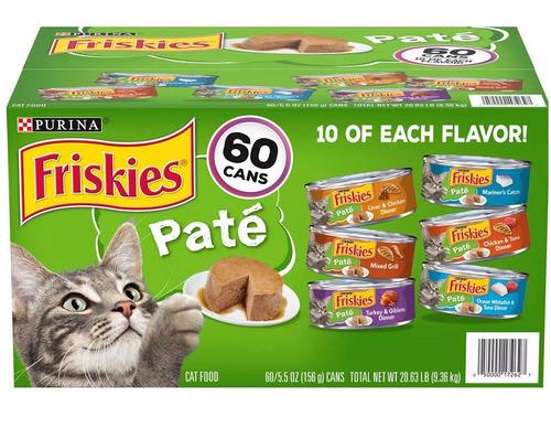 Friskies Pate 60 Latas 156 Gr (alimento Para Gatos)