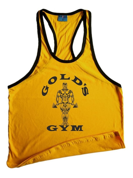 Musculosa Golds Gym Silueta Olimpica Gimnasio Gym Crossfit