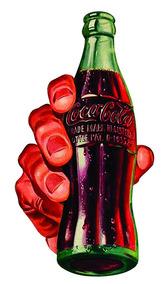 Adesivo Garrafa Coca Cola Retrô