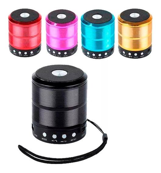 Caixinha Som Portátil Wireless Bluetooth Mp3 Usb Fm Sd Aux - Preta
