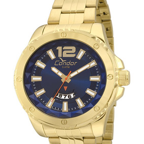 Relógio Condor Original Masculino Dourado Co2115wx/4a C/ Nfe