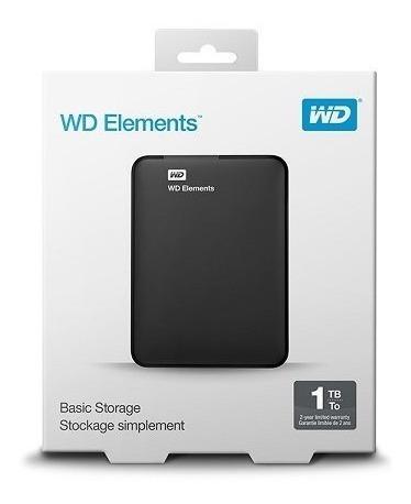 Hd Externo 1tb Western Digital Elements Preto Usb 3.0 Wdbuzg