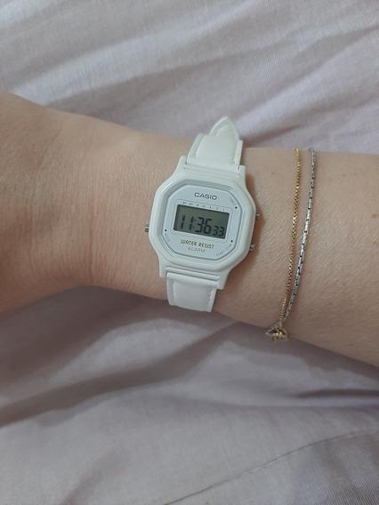 Relógio Casio Branco Super Fofo