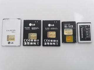 5 Baterias Lg, Samsung E Nokia